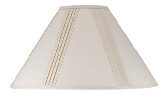 Side Pleated Linen Shade 6 X 19 X12 (162 SH-1003-OW)