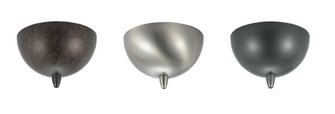 Canopy for low voltage pendant, 12V, 50W max w/ transformer (162 CP-972-BS)