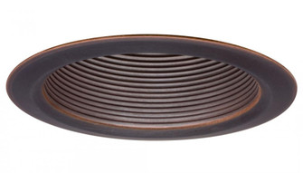 4 in. Oil Rubbed Bronze Shallow Baffle Finishing Trim with Narrow Flange (525|162L36)
