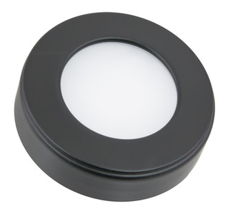 Omni Round Tunable LED Puck Light Single pack with 78'' lead wire and mounting screws, Blac (44|OMNI-TW-R1-BK)