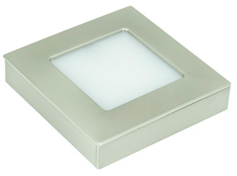 Omni Square Tunable LED Puck Light Single Pack with 78'' lead wire and mounting screws, Nic (44|OMNI-TW-S1-NK)