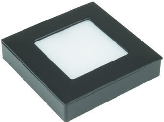 Omni Square Tunable LED Puck Light Single Pack with 78'' lead wire and mounting screws, Bla (44|OMNI-TW-S1-BK)
