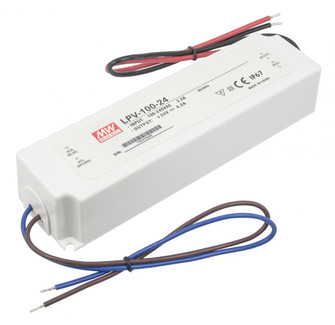 Hardwire power supply, 24V DC, 1-100watts, Not dimmable (44 LED-DR100-24)