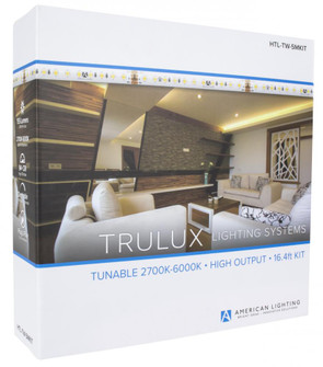 High Output Trulux Tunable Tape Light, IP54, 24V, 2700-6000K, 16.4' reel with driver (44 HTL-TW-5MKIT)
