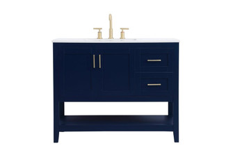 42 inch Single Bathroom Vanity in Blue (758|VF16042BL)