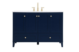 48 inch Single Bathroom Vanity in Blue (758|VF18048BL)
