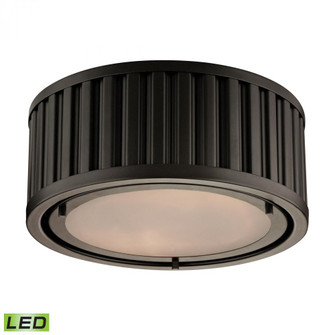 Linden Manor 2-Light Flush Mount in Oil Rubbed Bronze - Includes LED Bulbs (91|46130/2-LED)
