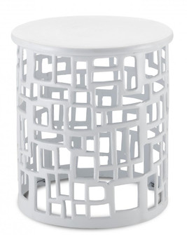 Wasi White Accent Table (92|4000-0116)