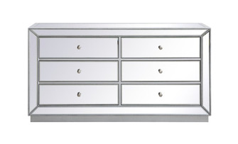 60 inch mirrored chest in antique silver (758 MF53036S)