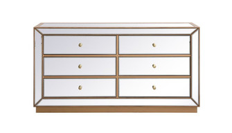 60 inch mirrored chest in antique gold (758 MF53036G)