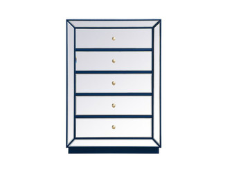 34 inch mirrored chest in blue (758 MF53026BL)