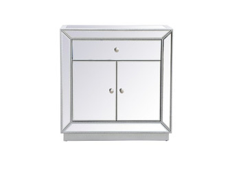 32 inch mirrored chest in antique silver (758 MF53002S)