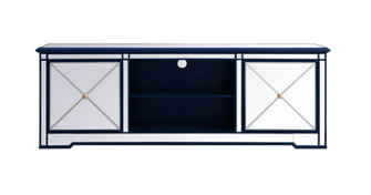 Modern 72 in. mirrored tv stand in blue (758|MF60172BL)