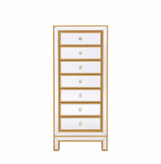 Lingerie Chest 7 drawers 18in. W x 15in. D x 42in. H in gold (758 MF72047G)