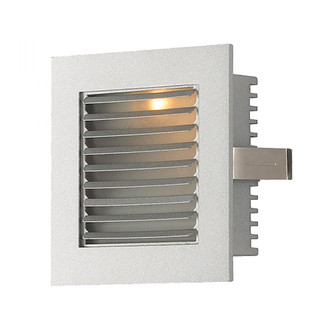 Step Lt - Wall Rec, New Const (Xenon) w/lamp with Louvered fplate/Grey trim (91|WZ-104)