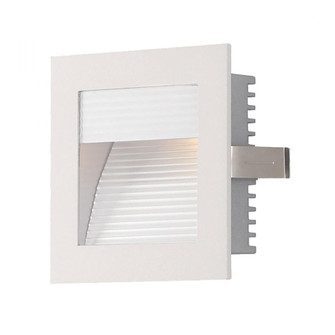 Step Lt - Wall Rec, New Const (Xenon) w/lamp. Corrugated fplate/White trim. (91|WZ-102W)