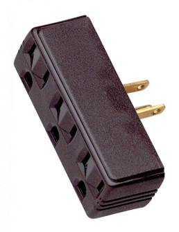 SINGLE TO TRIPLE ADAPTER-BROWN (27 90/1117)