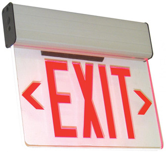 Edge-Lit LED Exit Single Face Green/Clear, 120/277V (193 ELXTERPANEL)