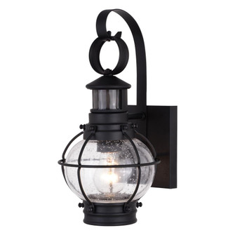 Chatham Dualux 6.75-in. Outdoor Motion Sensor Wall Light Textured Black (51|T0606)