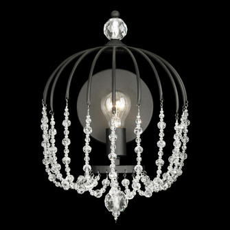 Voliere 1-Lt Crystal Wall Sconce - Matte Black (158|343W01MB)