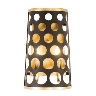 Bailey 2-Lt Wall Sconce - Matte Black/French Gold (158|346W02MBFG)