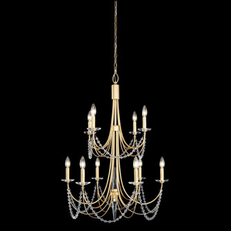 Brentwood 10-Lt 2-Tier Chandelier - French Gold (158|350C10FG)