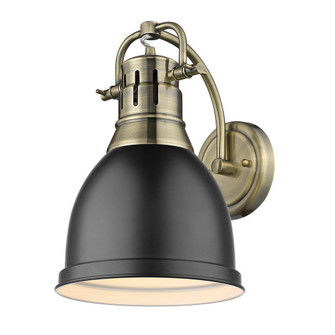 Duncan 1 Light Wall Sconce (36|3602-1W AB-BLK)