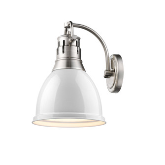 Duncan 1 Light Wall Sconce (36|3602-1W PW-WH)