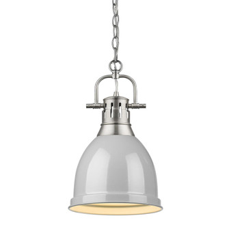 Duncan Small Pendant with Chain (36|3602-S PW-GY)