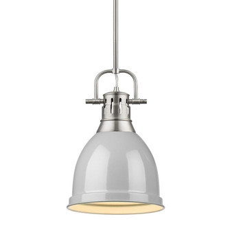 Duncan Small Pendant with Rod (36|3604-S PW-GY)