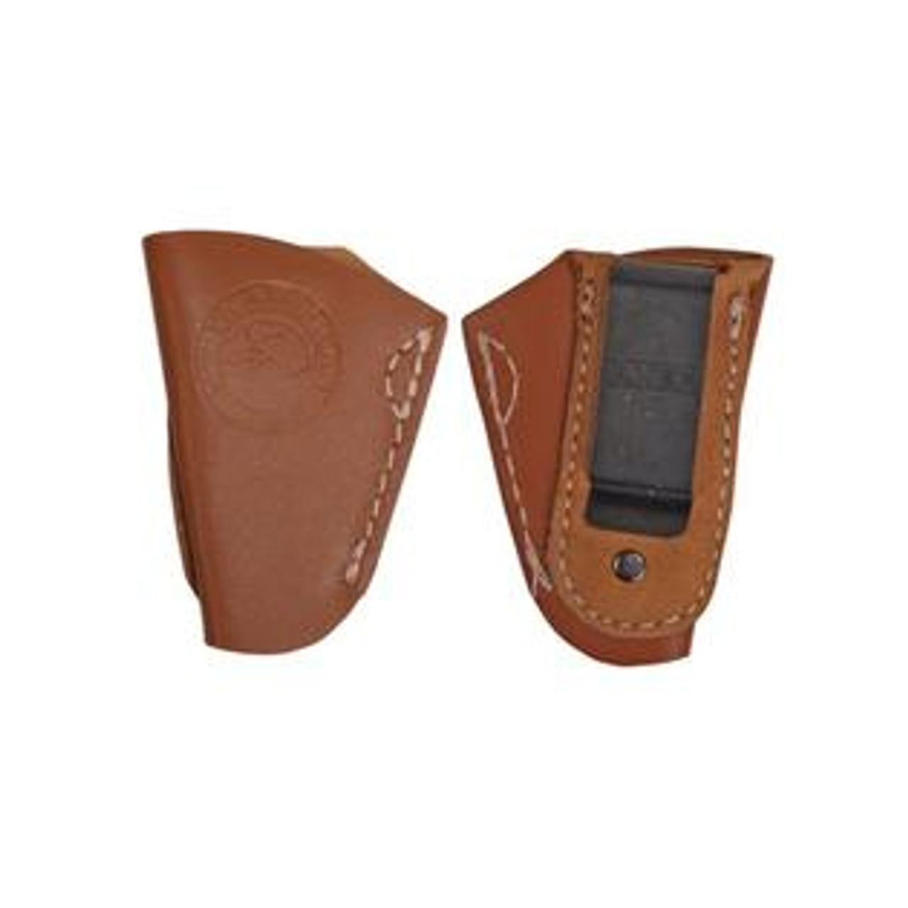 North American Arms HIP-L-BR INSIDE-THE-PANTS Leather Holster Brown for 22LR