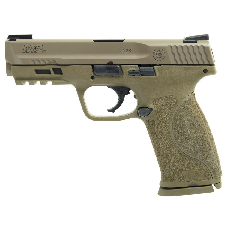 """Smith & Wesson - M&P M2.0 40S&W, 4.25"""", 15rd, Flat Dark Earth, Truglo TFX Sights"""