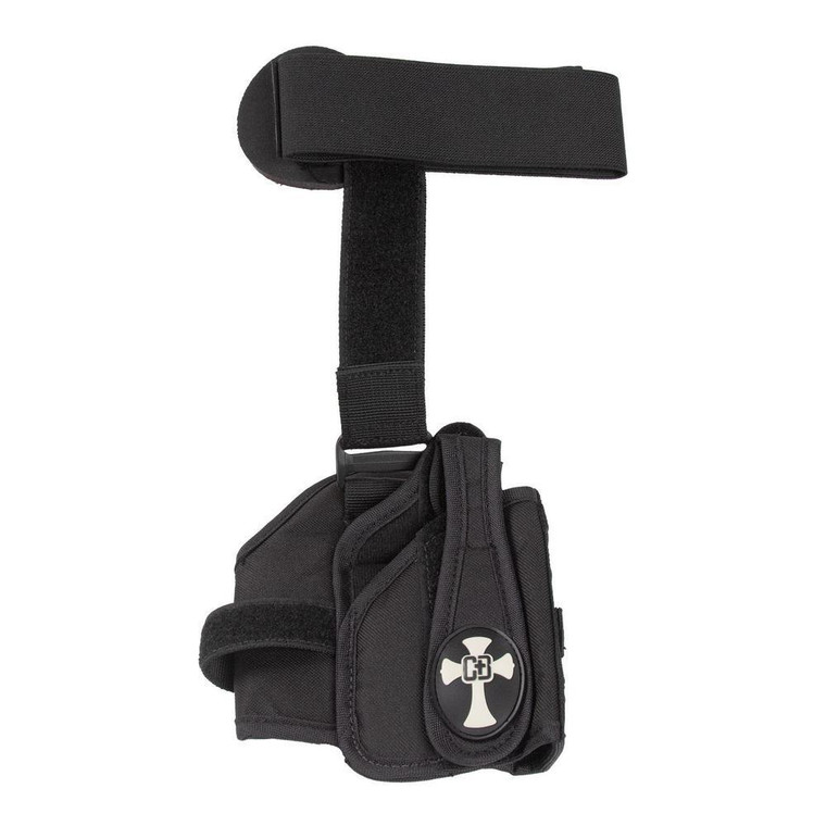 Style - GLOCK 42, Ruger LC9, etc... Color - Black Orientation - Right Hand Trigger Style - Trigger Guard Attachment Style - Adjustable velcro straps Material - Nylon/Velcro  Wear Style - Ankle and calf