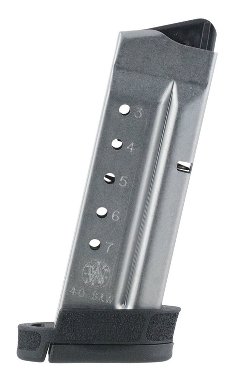 Smith & Wesson - M&P Shield 2.0 7 Round Magazine .40 S&W Stainless Steel Body Polymer Base Plate Matte Black