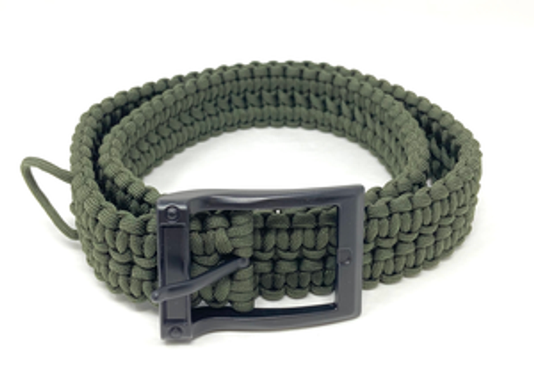 Timberline - Olive Paracord Survival Belt-Small Survival belt Can be unwound for emergency use Metal buckle Small is 26 inches to 30 inches Can be used as an everyday belt