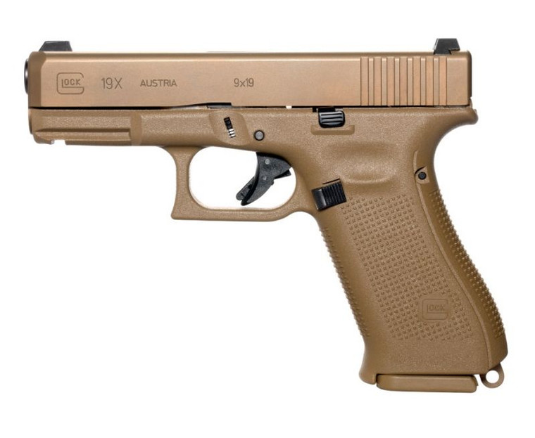 Glock - Glock 19X Compact Crossover 9mm Luger 17X2 Round - Coyote - UX1950703, 764503040313