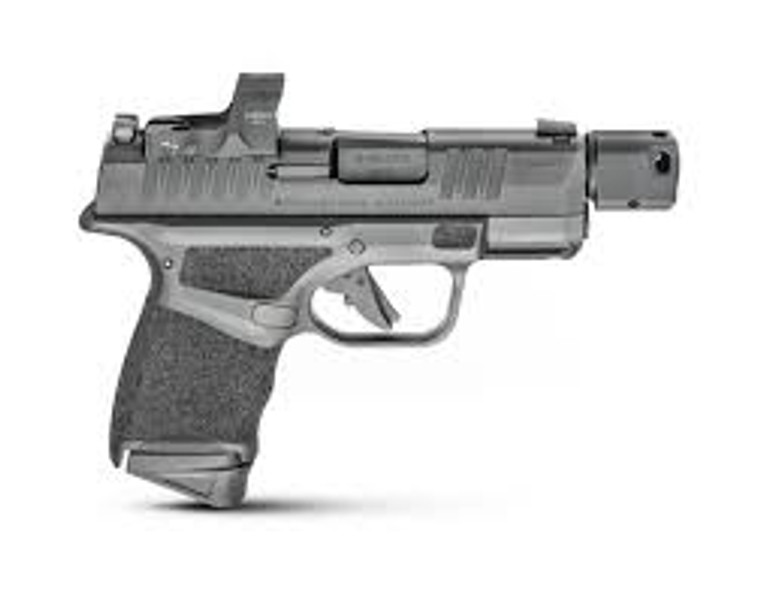 """Springfield Armory HC9389BTOSPWASP Hellcat Micro-Compact RDP 9mm Luger 3.80"""" 11+1 Black Black Melonite Steel Slide Adaptive Textured Black Polymer Grip Includes Hex Wasp Red Dot"""
