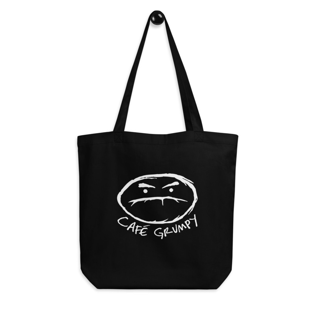Grumpy bean black eco-tote bag