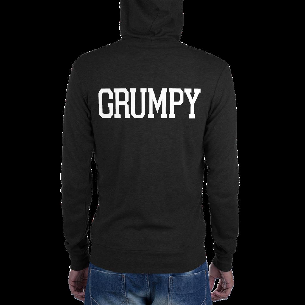 Grumpy lightweight zip hoodie (black)