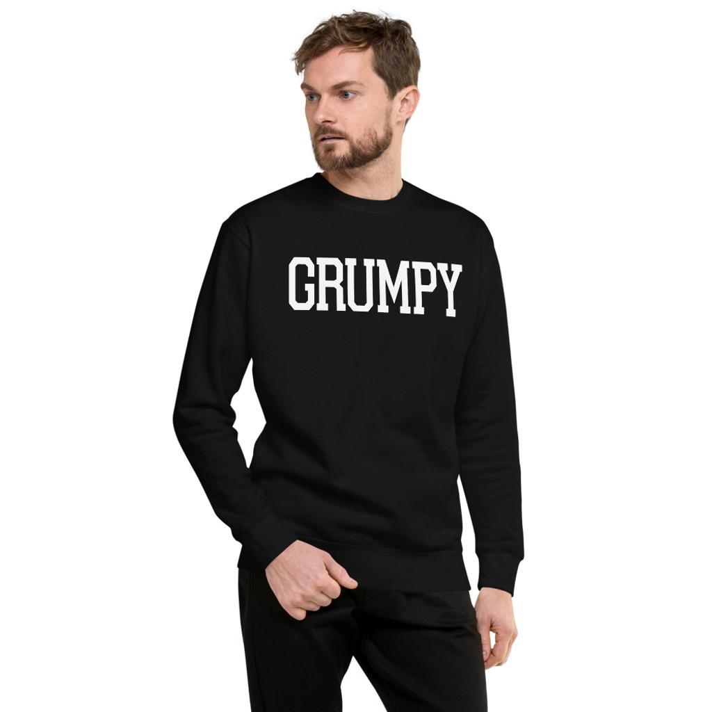 Grumpy Text pullover sweatshirt