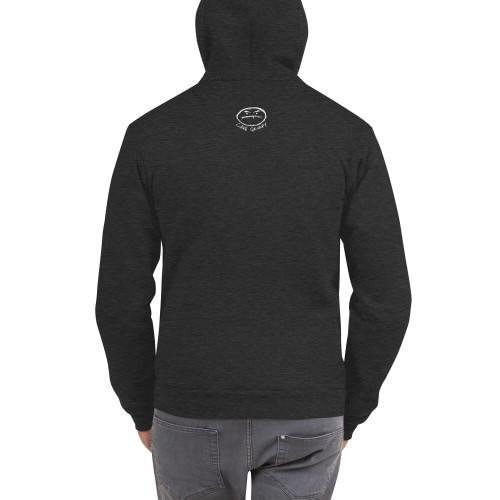 Grumpy Text flex fleece zip hoodie