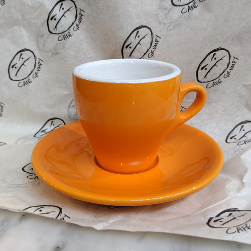 Orange Cappuccino Cup & Saucer