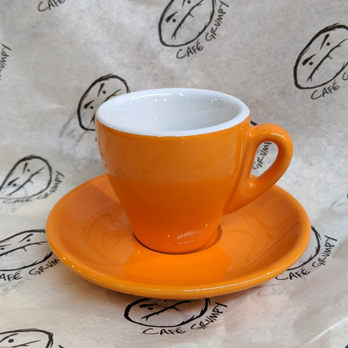 Orange Espresso Cup & Saucer