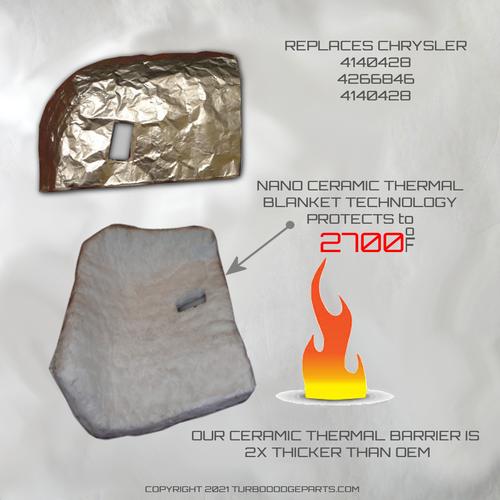 turbo Dodge Starter Heat Shield Chrysler 4140428 4266846 4140428