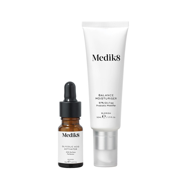 Medik8 Balance Moisturiser with Glycolic Acid Activator 50ml + 10ml