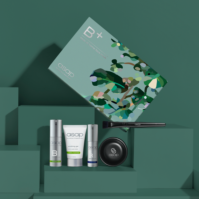 asap B + at home face mask kit