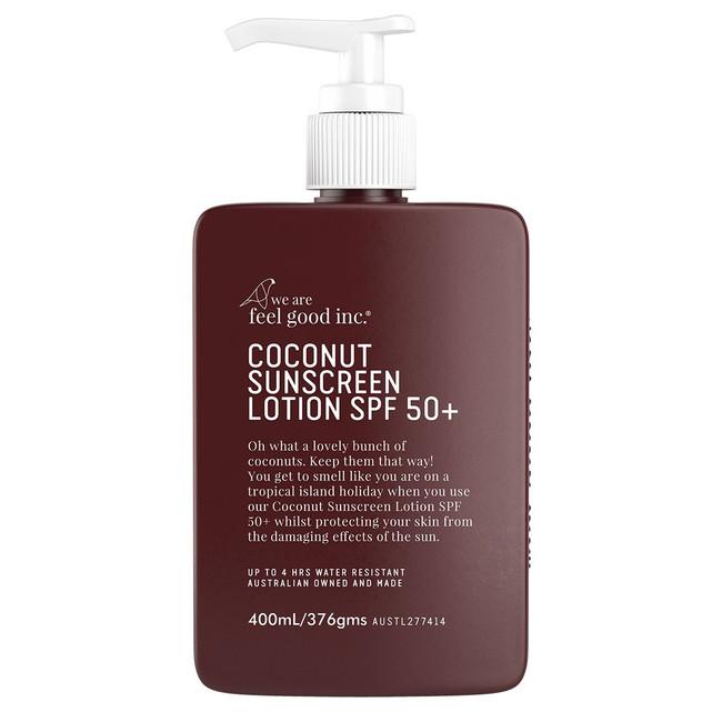 We Are Feel Good Coconut Sunscreen SPF50+ 400ml