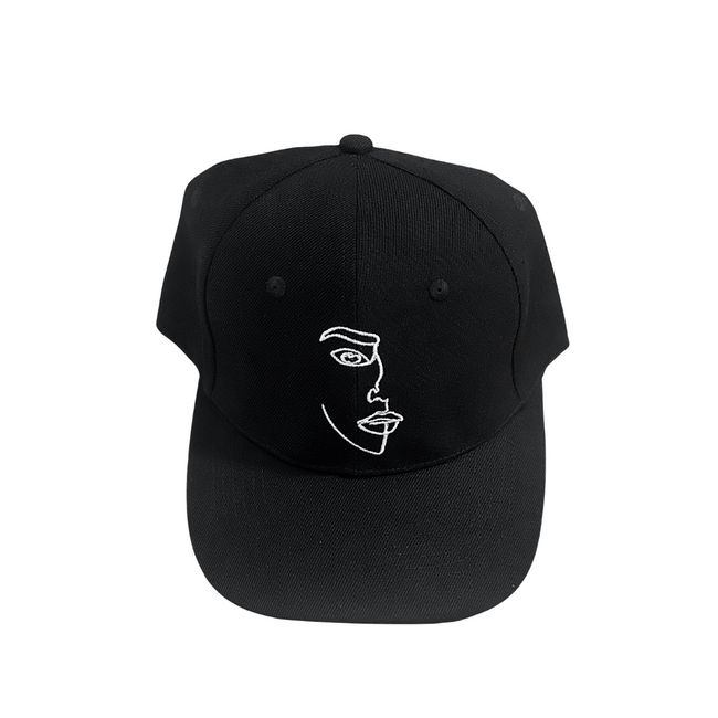 Face Icon Cap Black