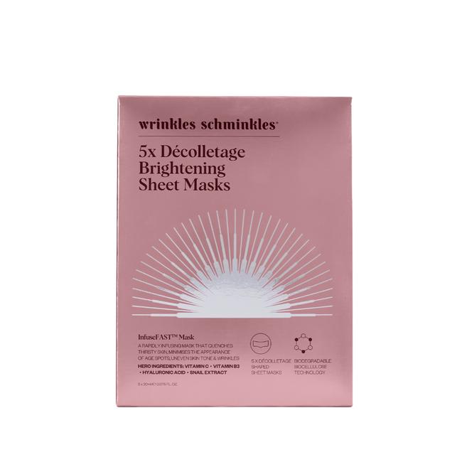Wrinkles Schminkles InfuseFast Decolletage Sheet Mask 5Pk