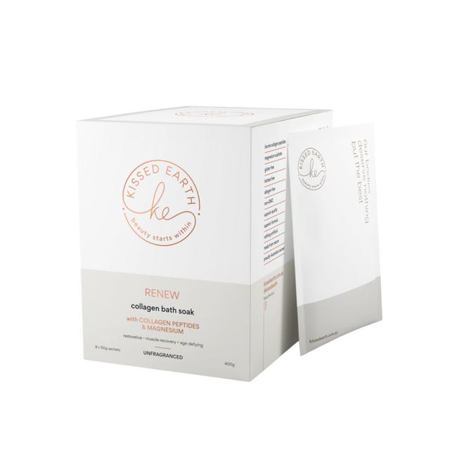 Kissed Earth Renew Collagen Bath Soak 8x50g